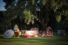 I love this...what a great chill out area for guests at your wedding, and fab for photo's!! Brought to you by Ruffled Blog and Photographed by Gonzalo Manera