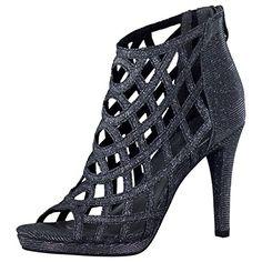 Tamaris Schuhe 1-1-28388-38 bequeme Damen Sandalette, Sandalen, Sommerschuhe für modebewusste Frau, schwarz (BLACK GLAM), EU 38 - Sandalen für frauen (*Partner-Link)
