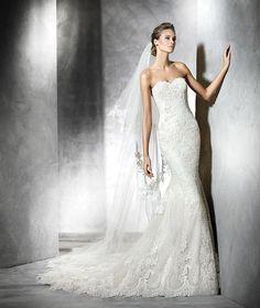 Princia, robe de mariée en tulle et silhouette sirène