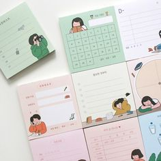 Korean Stationery, Kawaii Stationery, Stationery Design, Japanese Stationery, Stationary Store, Cute Stationary, Pad Design, Cute School Supplies, Journal Aesthetic