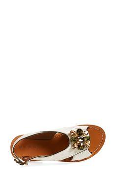 514fb36f213ff0 Marni Embellished Genuine Calf Hair Flat Slingback Sandal (Women)