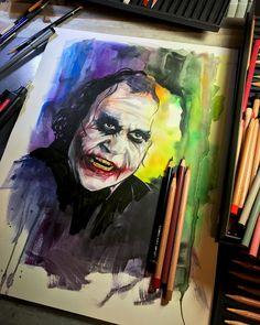 Perfect watercolor drawing art of DC comics character Joker done by Craig Deakes Joker Painting, Dc Comics Characters, Fictional Characters, Batman Artwork, Watercolor Drawing, Comic Character, Creative Inspiration, Art Drawings, Fan Art