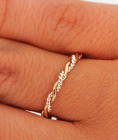 ON SALE Twist Ring  Stacker Ring  Thumb by TheJewelryGirlsPlace, $19.96