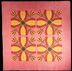 Textiles (Furnishing) - Quilt (Applique quilt) - Search the Collection - Winterthur Museum 1825-35