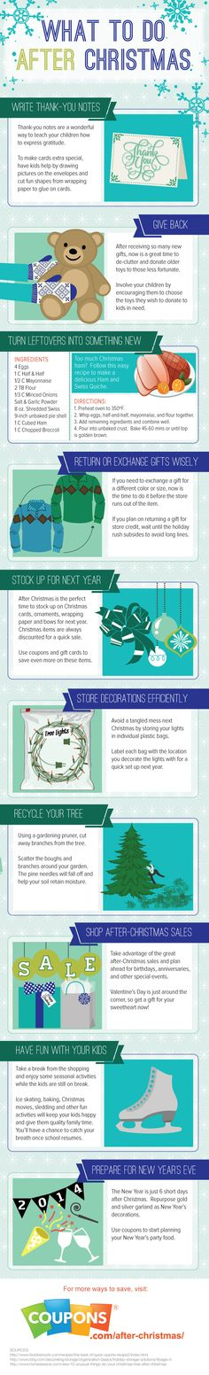 What to Do After Christmas Infographic - Coupons.com Blog