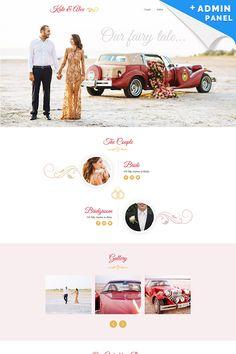 Wedding Planner Responsive Landing Page Template #65021