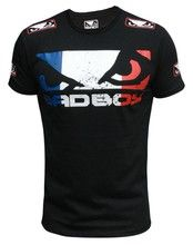 Black with Colorful Printed Badboy MMA T-Shirts