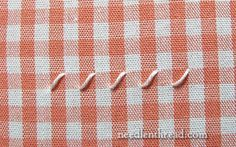 Chicken Scratch / Gingham Embroidery Tutorial WORKING THE FOUNDATION STITCHES 03/26/16 JS