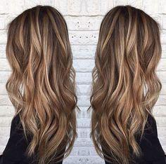 Blonde Highlights on Medium Brown Hair
