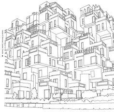 Free coloring page coloring-moshe-safdie-habitat-67-in-montreal-image-steve-mcdonald.