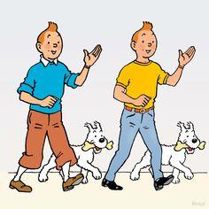1964 – Tintin doit-il se rhabiller ? • Does Tintin have to change his clothing? Dessin publié dans « Marie-Claire » du 26-4-64 à l'occasion d'un référendum destiné à ses lectrices (et lecteurs) : « #Tintin doit-il moderniser son costume ? » #herge