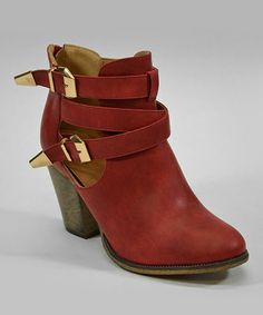 Red Orlando Ankle Boot by Lollipop Shoes  #zulily