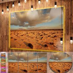 Designart 'Desert in Western Sahara' Landscape Metal Wall Art