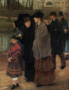 Laurits Andersen Ring (1854-1933): On the Way to Church, ca.1919