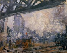 Monet - Saint-Lazare Station, Exterior View, 1877