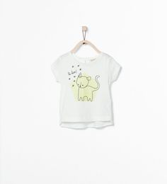 Image 1 of Organic cotton printed T-shirt from Zara