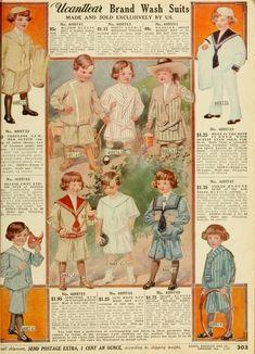 Sears Catalog 1912, No. 124, Page 305 Sailor suits