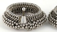 Pair Antique India Silver Bracelets Anklet - by jasmineium, $1100.00