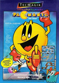 "Pac-Mania for Master Sysem (France, Tec Magik, July 1991) - ""Pacmaniac!!! I'm back, with me? Have fun on your Sega"". (I know, the sentence is strange, but it is also in original french)."