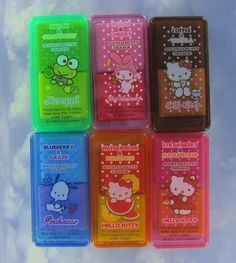 Authentic Japanese Japan Nakajima Sanrio Hello Kitty Silly Putty 12 Fruit Food Scented Erasers