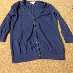 Cardigan 3 quarter sleeve navy blue cardigan. Old navy size xs. Bundle with the other xs cardigans for cheap Old Navy Sweaters Cardigans