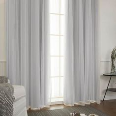 Shop for Aurora Home Mix and Match Blackout Blackout Curtains Panel Set Get free delivery On EVERYTHING* Overstock - Your Online Home Decor Outlet Store! Curtains With Plantation Shutters, Drapes And Blinds, Tulle Curtains, Sheer Curtain Panels, Home Curtains, Grommet Curtains, Hanging Curtains, Blackout Curtains, Panel Curtains
