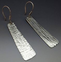 Hammered Silver Dangle Earrings Drop Earrings Hammered
