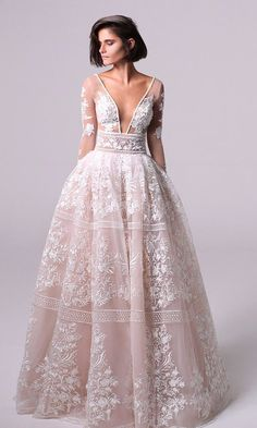 8 Beautiful Ball Gowns Fit for a Princess Bride