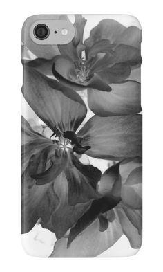 Geranium In Black And White iPhone Case by ARTbyJWP from Redbubble #artbyjwp #redbubble #phonecase #iphonecases #iphonecase #phonecover #blackandwhite #floral #flower #photography #fineartphotography #monochrome #minimal #abstract #macro