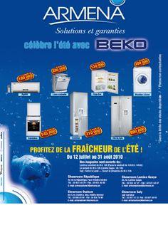 Newsletter Armena électroménager pour la promotion des produits Beko