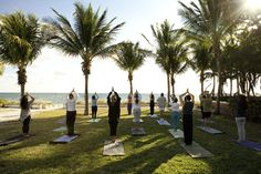 Yoga in Key Biscayne Beach.  Key Biscayne is the Perfect place to live if you enjoy Yoga by the Beach.