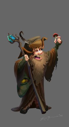Here's a flash illustration and my interpretation of a cartoon Radagast the Brown from the Hobbit. Radagast the Brown Character Concept, Character Art, Concept Art, Legolas, Gandalf, Hobbit Art, The Hobbit, Radagast The Brown, Character Illustration