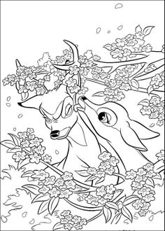 Bambi Coloring Pages. Bambi is an animated feature film and is considered the Disney classic, according to the official canon. Horse Coloring Pages, Cute Coloring Pages, Flower Coloring Pages, Coloring Pages To Print, Free Printable Coloring Pages, Coloring Pages For Kids, Coloring Books, Disney Princess Coloring Pages, Disney Princess Colors