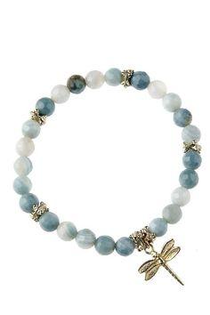Pearl bracelet dragonfly