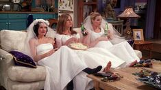 "Courteney Cox as Monica Geller, Jennifer Aniston as Rachel Green, and Lisa Kudrow as Phoebe Buffay in season episode 20 of Friends, ""The One With All the Wedding Dresses. Friends Tv Show, Tv: Friends, Friends 1994, Friends Trivia, Serie Friends, Friends Cast, Friends Moments, Friends Forever, Friends Episodes"