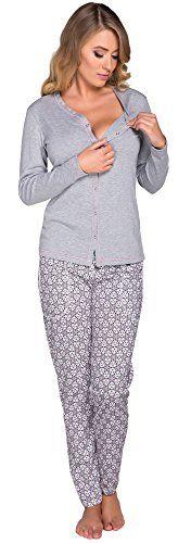 Italian Fashion IF Damen Stillpyjama Hydrangea 0223 (Melange, S)