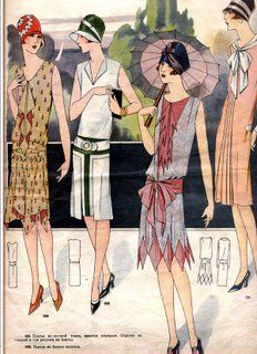 Handkerchief hemlines, simple pleating, dropped waist and higher hemlines - without the shake up of the 20's fashion today would be very different