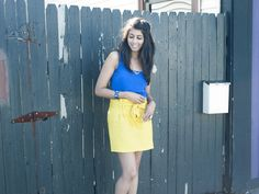 www.iwantyourlook.com #yellowskirt