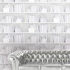 Bookshelf wallpaper by Y & B - White