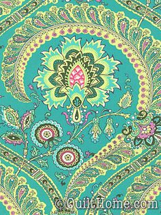 Amy Butler fabric by colorcrazy Paisley Fabric, Paisley Pattern, Pattern Art, Pattern Design, Textiles, Textile Patterns, Amy Butler Fabric, House Of Turquoise, Pretty Patterns