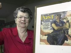 Model for Norman Rockwell's Rosie the Riveter painting dies