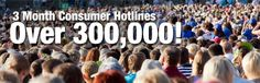 3 Month Consumer Hotlines over 300,000! SMS also manages a variety of ALTERNATE MEDIA PROGRAMS with large monthly counts!