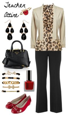 Teacher Outfit - Teacher Clothes - Wear to Work - Teacher Attire Series: Outfit 14 a Fashion Collage by DanielleJevette created on Polyvore