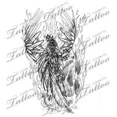 Forearm Flaming Phoenix