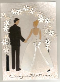 cricut+wedding+card | This card was made using the Wedding Cricut Cartridge and punched ...