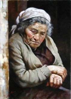 """ by Gianni Strino - Italian Italian Painters, Italian Artist, Hyper Realistic Paintings, Old Faces, Watercolor Portraits, Cthulhu, Portrait Art, Old Women, Figurative Art"