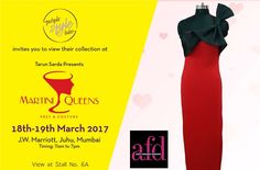 Purple Style Labs Invites You to view the collection of Aditi Farabda Designs at Martini Queens #Fashion and #LifestyleExhibition on 18th – 19th March 2017 at JW Marriott Hotel Mumbai Juhu.  For Queries Contact @ 09811923456  #MartiniQueens #AditiFarabdaDesigns #FashionExhibition #Lifestyle #Designer #Dresses #MumbaiExhibition