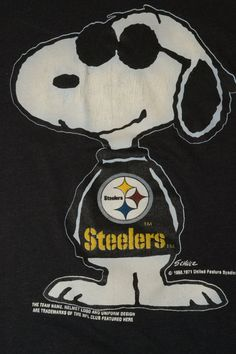 Snoopy sportin Black and Yellow. One smart dog.