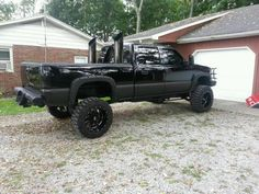 blacked out 2005 duramax - - Yahoo Image Search Results Lifted Chevy Trucks, Diesel Trucks, Image Search, Monster Trucks, Clay, Big, Beautiful, Clays, Modeling Dough