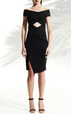 Bandage Wrap Off The Shoulder Dress by Josh Goot for Preorder on Moda Operandi